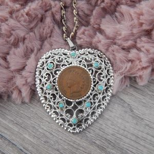 Jewelry - Vintage 1906 Indian Head Penny necklace
